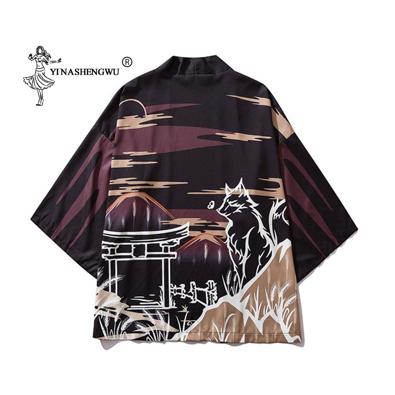 Kimono Cosplay Costumes TraditionalUnisex Japanese Kimono Cardigan Printed Yukata Women Men Casual Shirt Kimonos Femme Asian