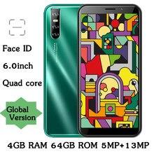 Gesicht id A51 Android 6,0 zoll Bildschirm Quad Core 4GB RAM 64GB ROM 13MP entsperrt Globale Smartphone Handys celulares Handys