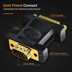 Image 3 - CABLETIME VGA Male to DVI 24+5 Pin Female Converter DVI to VGA Adapter 1080 Gold plated DVI Convertor forComputer PC Laptop C11