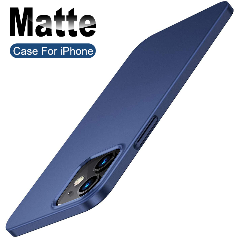 Luxury Slim Case For Iphone 12 Mini 11 Pro Xs Max X Xr Hard Pc Back Cover Case For Iphone Se 2020 7 8 6s 6 Plus 5 5s Ultra Thin