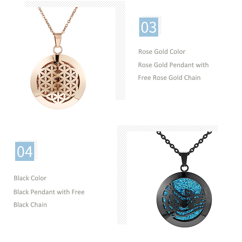 Aromatherapy Essential Oil Diffuser Locket Necklace (59)