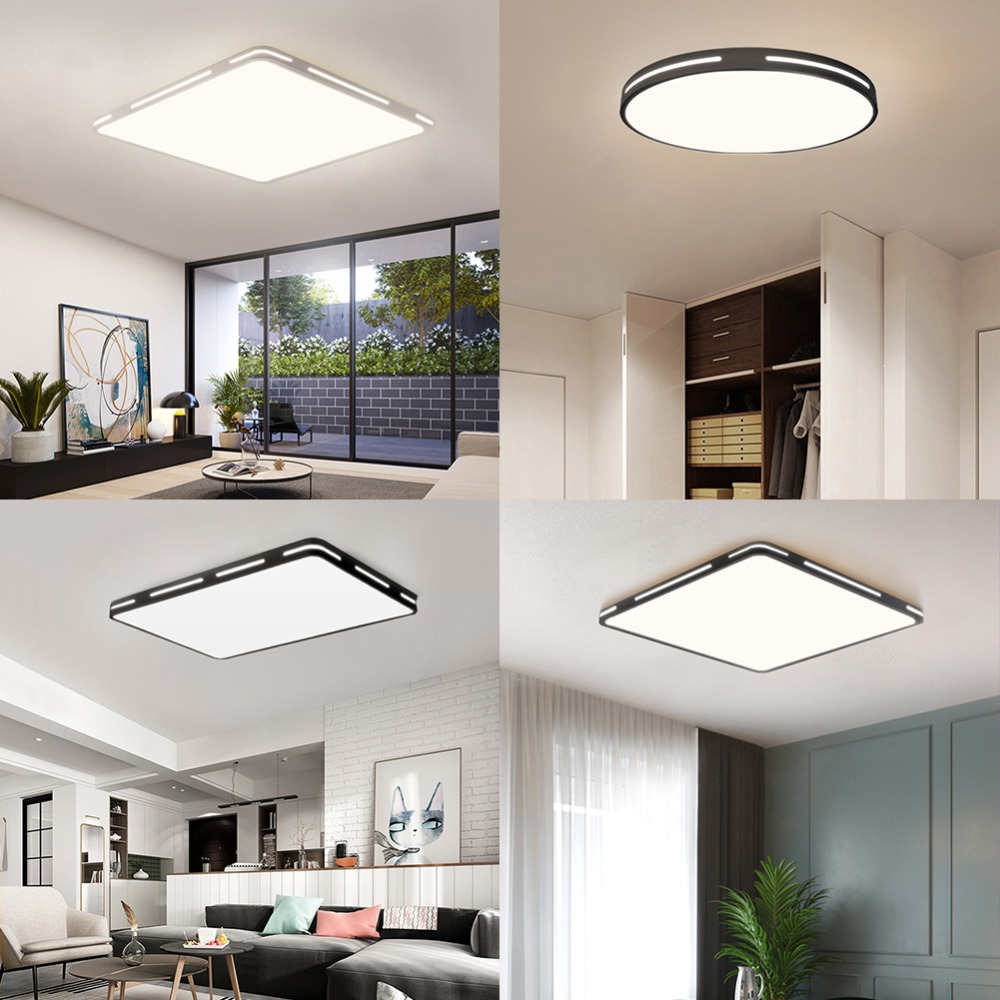 H00414e09075b4a99b73e04a66fe7bf41n Modern LED Ceiling Light Simple Decoration Fixtures for Study Dining Room Bedroom Living Room Balcony Ceiling Lamp AC110v 220v