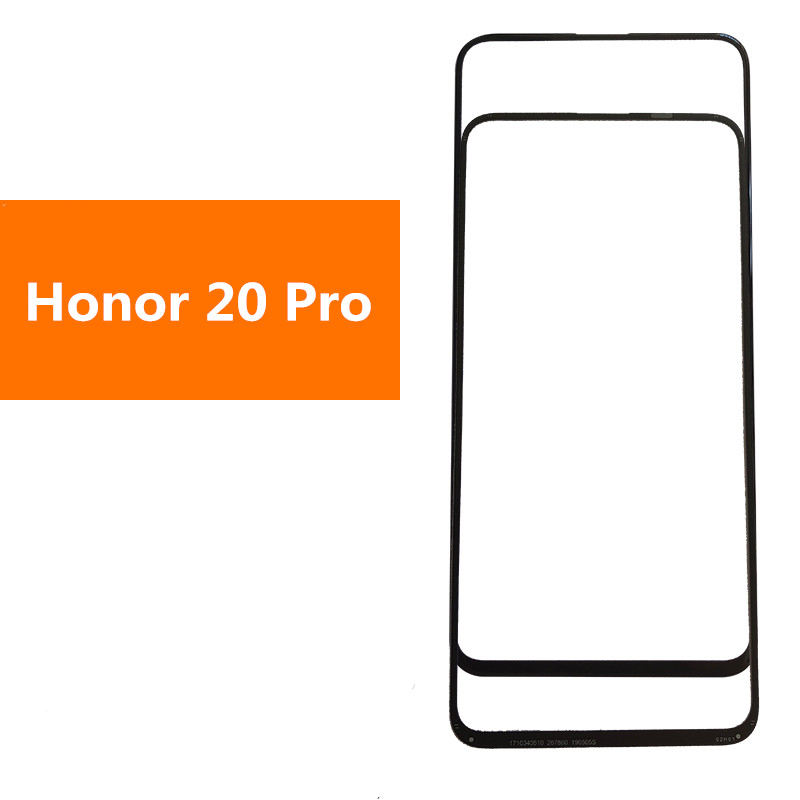 Honor20 Pro Outer Screen For Huawei Honor 20 Pro Front Touch Panel LCD Display Out Glass Cover Lens Phone Repair Replace Parts