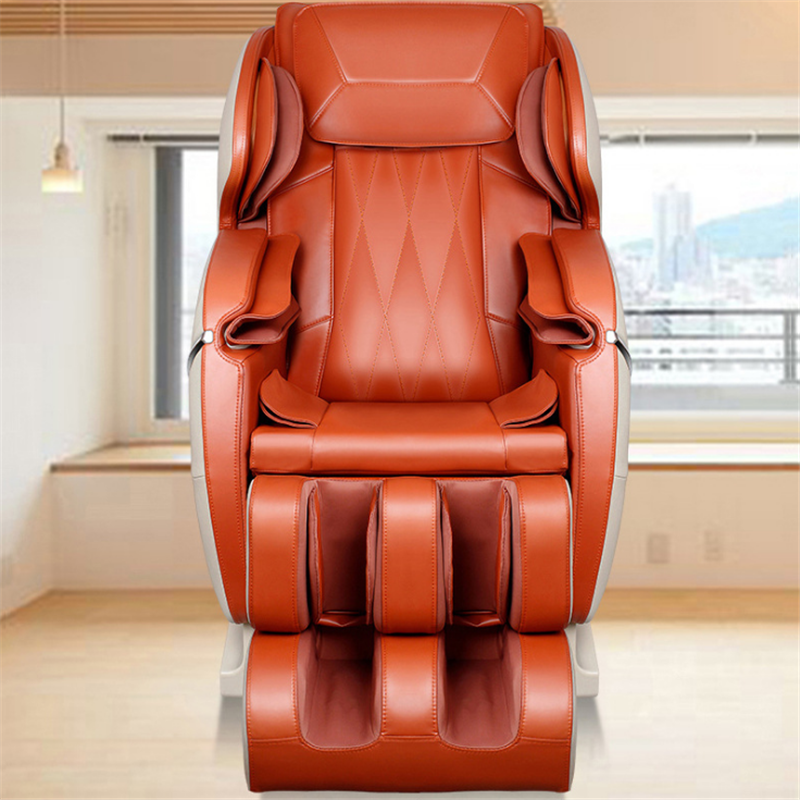 orange shiatsu massage chair zero gravity