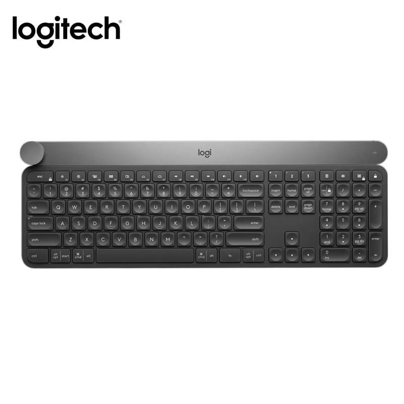 Bluetooth-Keyboard Logitech Craft Wireless Connection Intelligent-Control-Knob Multiple-Device