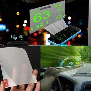 Image 4 - 10 adet 12cm * 9cm Yansıtıcı Film GPS HUD Otomobil Head Up Display araç ön camı Projektör Aksesuarları