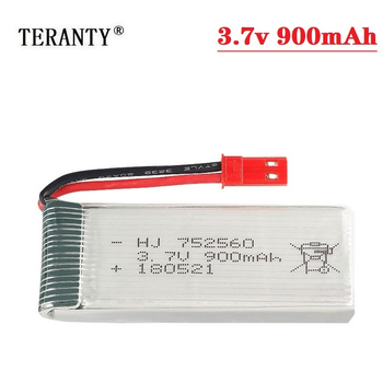 900mah 3.7V Rechargeable Battery For 8807 8807W A6 A6W M68 Rc Quadcopter Spare Parts 3.7v Rc Drones LIPO battery 752560 1-20pcs image