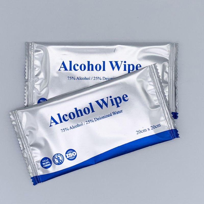 50Pcs 75% Alcohol Wet Wipes Hand Wipes Individually Wrapped Alcohol Wipes Travel Pack