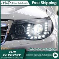 Reflektory do samochodu Subaru Forester 2008-2012 DRL lampa do jazdy dziennej światło na kierownicę LED Bi Xenon żarówka światła przeciwmgielne Tuning akcesoria samochodowe