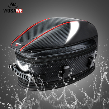 motorcycle tail bags rear back seat bags travel luggage motorcycles helmet bags motorbike scooter rider with shoulder strap WOSAWE Waterproof Motorcycle Back Seat Bag Durable Rear Motorcycle Seat Bag High Capacity Rider Luggage Saddle Tank Tail Bag