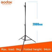 Godox 280 سنتيمتر 2.8 متر 9FT برو الثقيلة ضوء موقف ل فريسنل التنغستن ضوء محطة التلفزيون استوديو صور استوديو حوامل