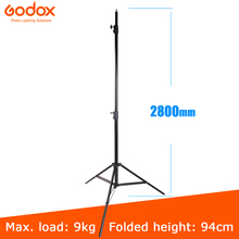 Godox 280cm 2.8m 9FT Pro support de lumière robuste pour Fresnel tungstène lumière Station de télévision Studio Photo Studio trépieds