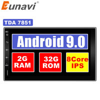 Eunavi 7 in dash 2 Din 1024*600 HD Android 7.1 8.1 Car Tap PC Tablet 2din Universal GPS Navigation Radio Stereo Audio Player