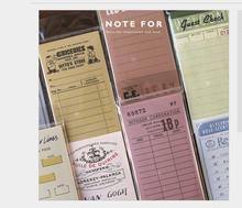 Cuaderno Vintage de viaje, mini agenda diaria para hacer lista, lista de verificación, notas adhesivas, planificador de notas, Mensaje, rascador