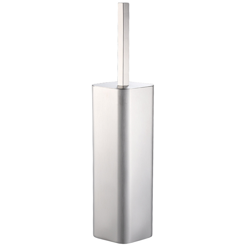Polished Stainless Steel Toilet Brush And Holder Square, Chrome Finished,Pack Of 1