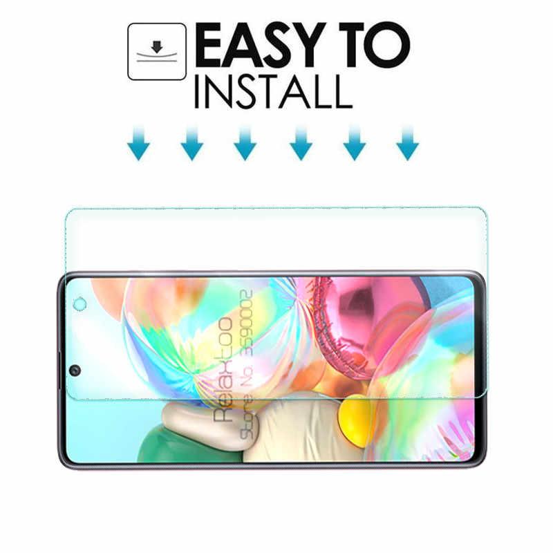 2-In-1 Kamera Pelindung Kaca untuk Samsung Galaxy A71 A51 2019 51 71 51A 71A A515F a715F Screen Protector Tempered Kaca Film