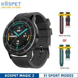 Nowy KOSPET MAGIC 2 Smart Watch mężczyźni wodoodporna sportowa opaska na nadgarstek opaska monitorująca aktywność fizyczną bransoletka tętno Smartwatch Bluetooth dla Kiid