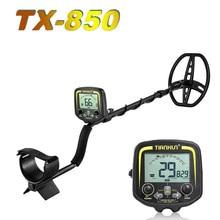 TX-850 profissional detector de metais de profundidade subterrânea alta sensibilidade detector de tesouro ouro caçador localizador do parafuso prisioneiro