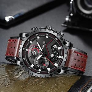 Image 3 - NIBOSI männer Sport Uhr Quarz Armbanduhren Wasserdichte Große Mode Uhren Edelstahl Männer Uhr 2021 Relogio Masculino