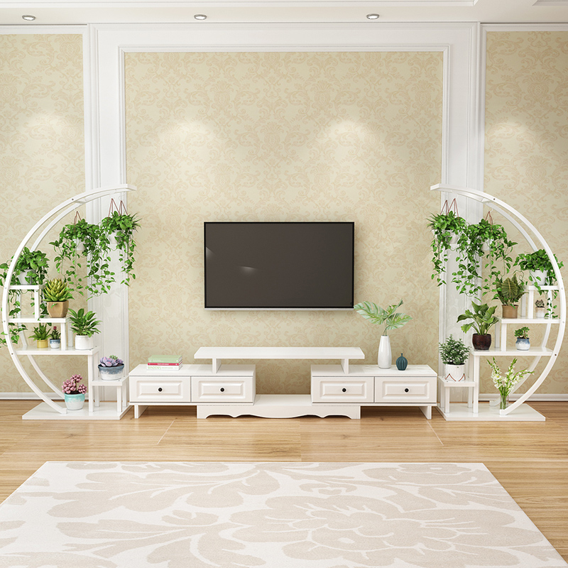 Multi-storey Room Introspection Space Balcony Decorate Iron Art Of Placing Books Flowerpot European Style Frame