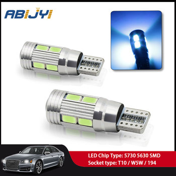 2PCS T10 W5W Super Bright 10 LED Car Interior Reading Light Marker signal Lamp for BMW E39 E90 R56 R53 Car Interior Dome Light image