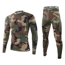 Leggings Tracksuit Thermal-Underwear-Set Shirts Fitness Long-Johns Sports-Compression