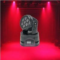 New arrival LED Moving Head Light Wash 7x18W RGBWA+UV 6in1 DMX 12/16 Channels stage light DJ Nightclub Party