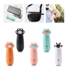 Portable Cat Paw Shaped Handheld Mini Air Cooler Fan USB Rechargeable Small Personal Cooling Tools for Home Office