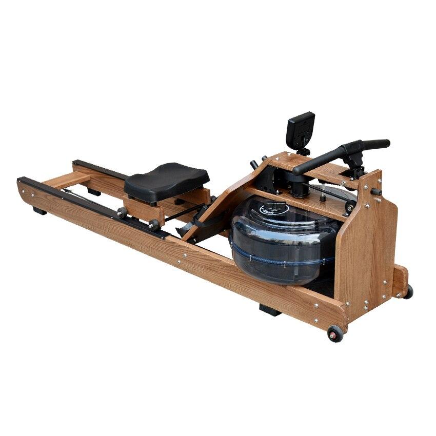 MR002 Machine de rangée de résistance à l'eau matériel en bois bras pectoraux abdominaux entraînement de remise en forme du corps aviron équipement de gymnastique à domicile intérieur - 2