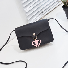 Shoulder bag female bag 2020 new Korean version of the mobile phone personality heart-shaped mini bag crossbody bag novelty flamingo shaped crossbody bag