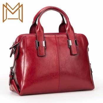 Genuine Leather Woman Package Handbag Bag 2019 Concise Cowhide Oblique Satchel