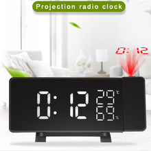 Projection Clock Table-Decoration Radio Bedroom Digital Electronic Home FM USB