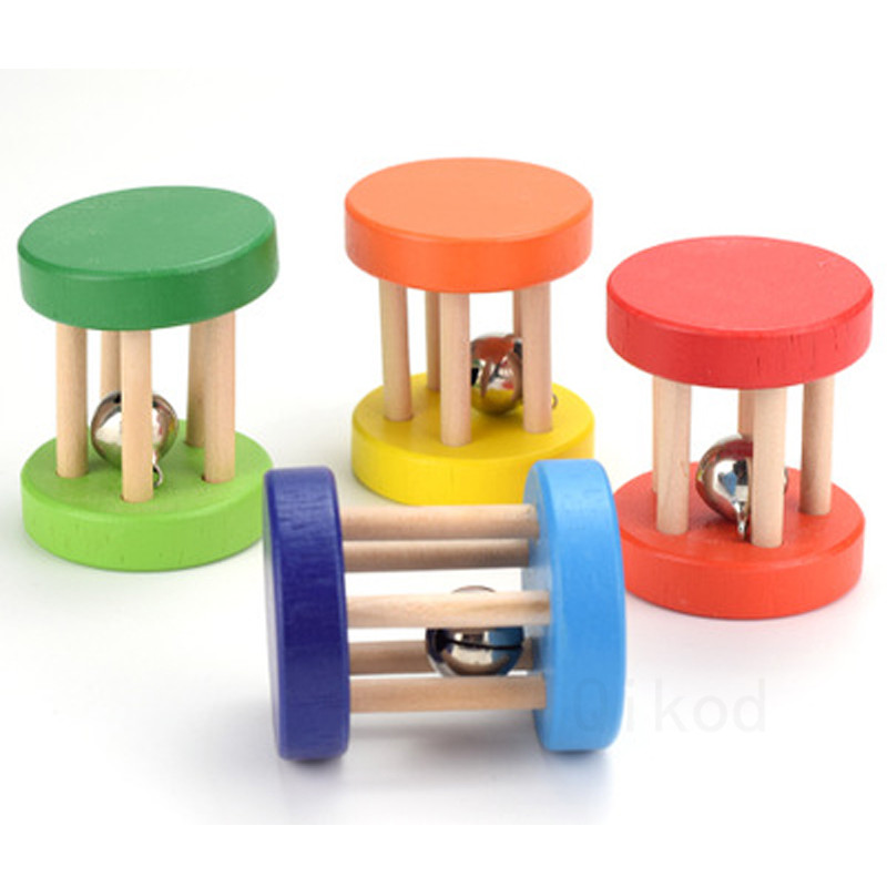 Montessori Educational Wooden Toy 3D Puzzle Five-post Rattle Wooden Sensory Mathematic Training Early Intellectual Learning Toy