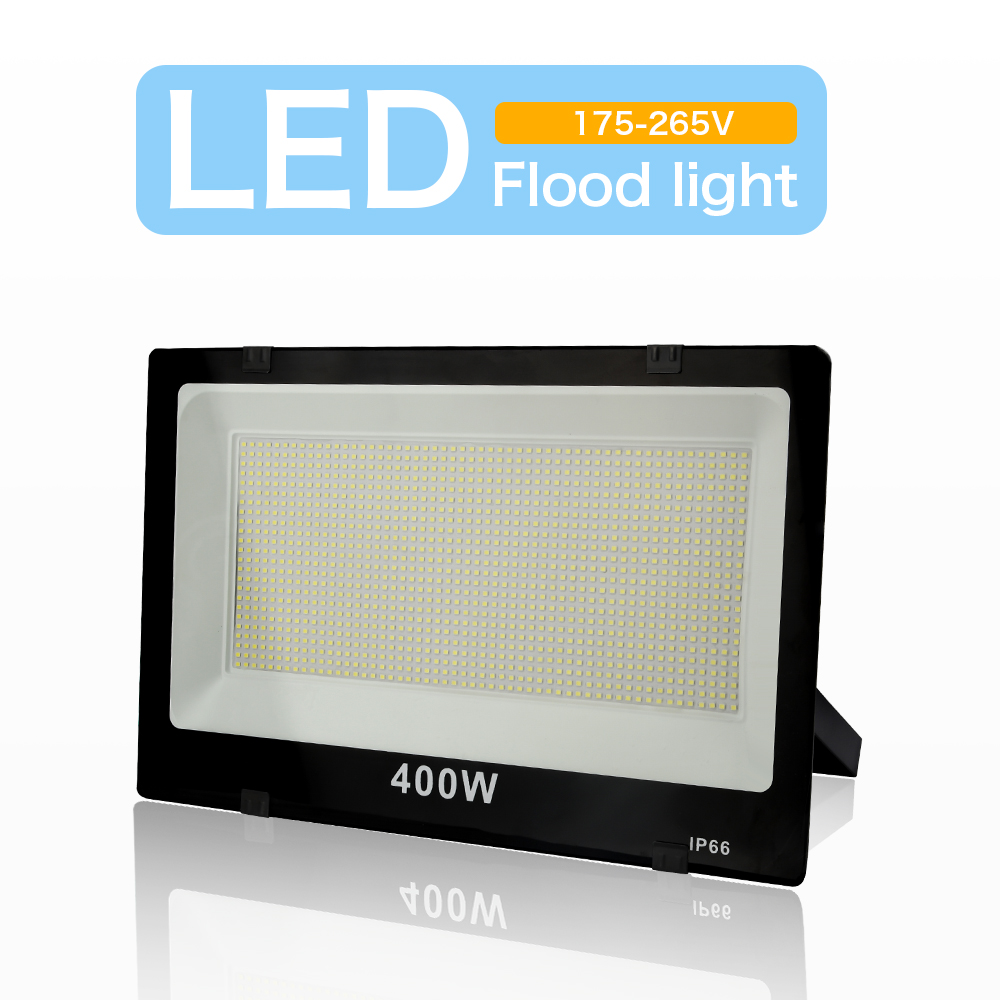 LED Floodlight 220V Outdoor Spotlight IP66 Waterproof Led Wall Reflector Lighting 400W 100W 50W 30W 10W Garden Square Decoration
