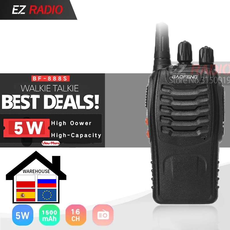 Baofeng Transceiver Bf888s-Talkie Two-Way-Radio Ham 400-470mhz UHF for Hotel Single-Band