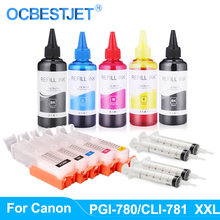 Refill-Ink-Kit Ink-Cartridge Ts9570-Printer Canon Pixma PGI-780 TS707 TS6170 for Pgi-780/Cli-781/Xxl/Refillable