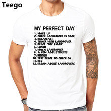 My Perfect Day Landrover Tt shirt 4x4 Off Road Dad Truck To Do List Mens Gift Top T Shirt Hot Topic Men Short Sleeve(China)