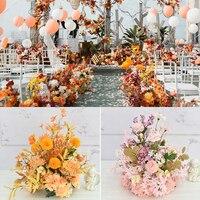 40CM Silk artificial centerpieces flower DIY Rose peony Gypsophila flower heads wedding decor wall shop window table accessorie