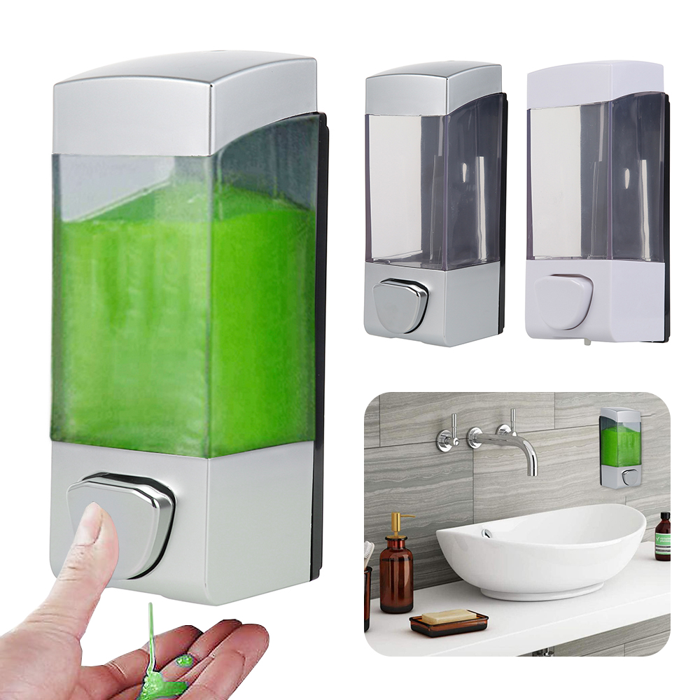 manual liquid soap dispenser wall mounted for bathroom kitchen plastic shower gel detergent shampoo bottle bathing accessories