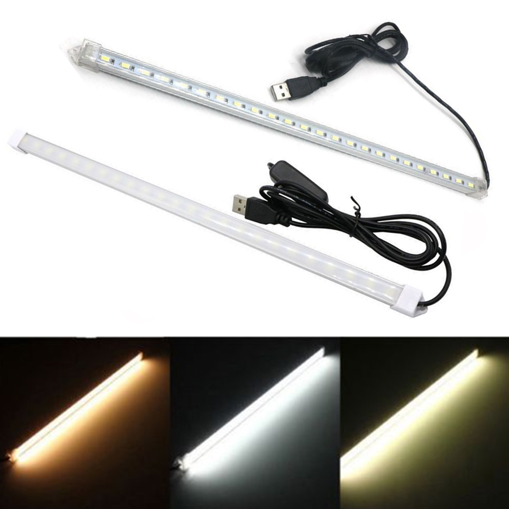 USB LED Bar Light With Switch DC5V High Brightness 50CM 36LEDs 5630 LED Rigid Strip Energy Saving LED Hard Kitchen Cabinet light