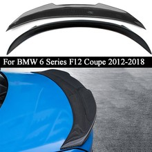 Carro de fibra carbono asa traseira tronco tampa spoiler asa para bmw série 6 f12 coupe 2012 2013 2014 2015 2016 2017 2018