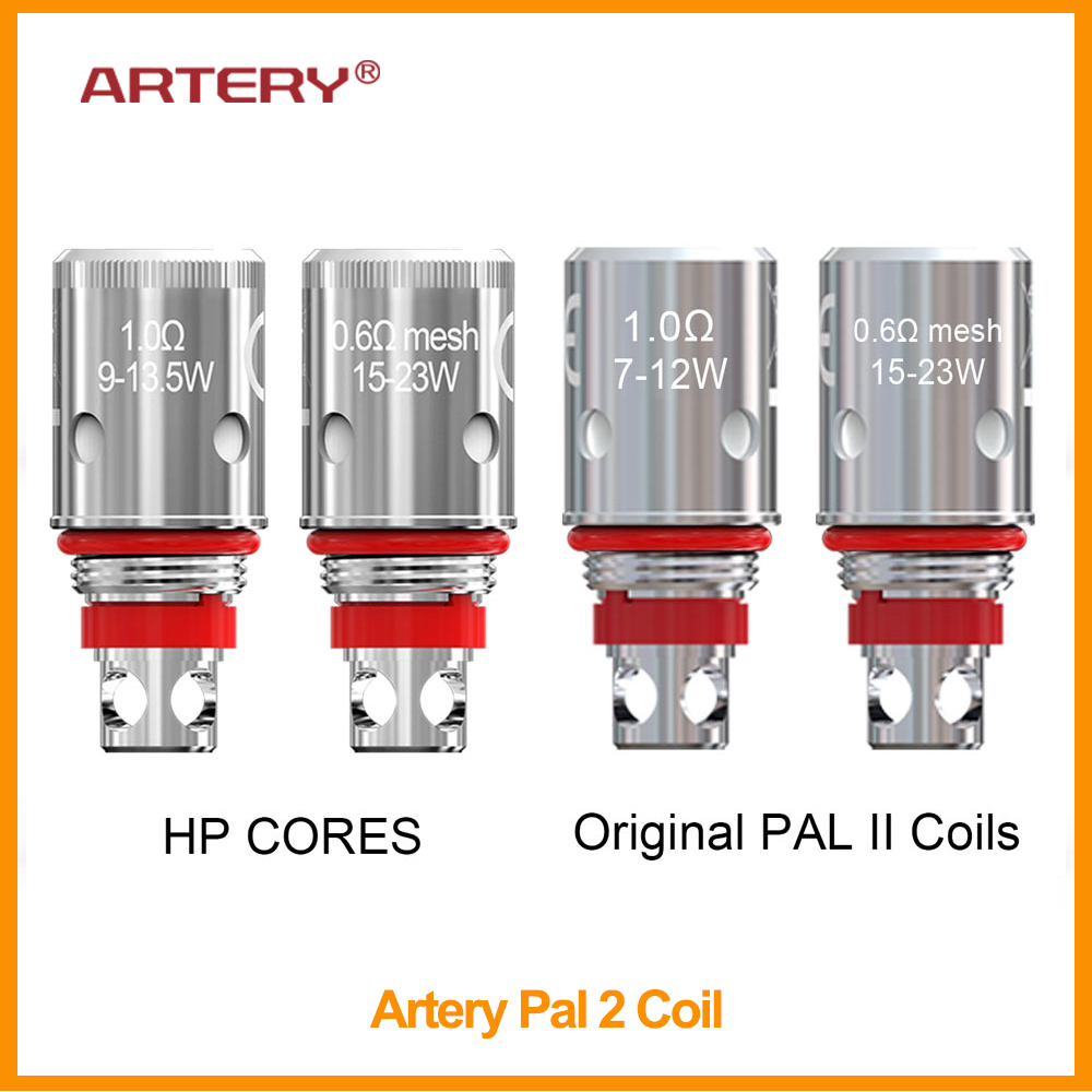 Original Artery PAL 2 Coil For Artery Pal 2 Kit With 0.6ohm HP Mesh Coil/1.0ohm HP Regular Coil Vapor Coil Electronic Cigarette