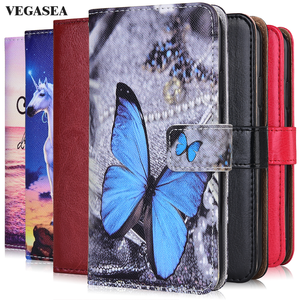 For On Huawei Honor 7A 8S Prime 30 Play 9A 4T Pro Plus Cover Plain Wallet Case For Huawei P30 nova 7i 7 SE Pro 5G Cute Case(China)