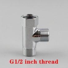 """G1/2 """"Трехходовой латунный соединитель для водопроводной"""