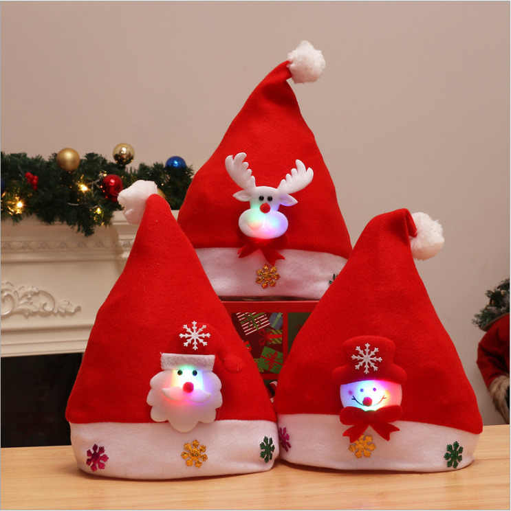 New Christmas Ornaments Decoration Christmas Hats Santa Hats Children Women Men Boys Girls Cap For Christmas Party Props