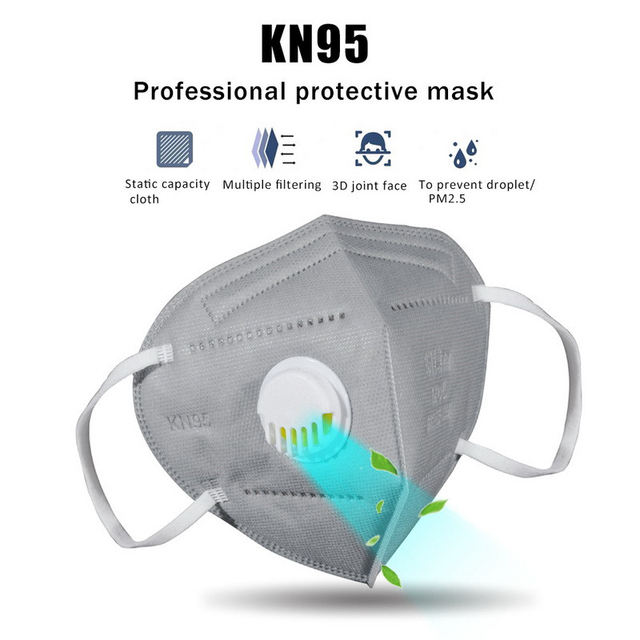 50pcs KN95 Mouth Mask FFP3 KN95 Mask Activated Carbon Filter Mouth-muffle Face Mask Anti-Dust Mascarilla Respirator Mask 1