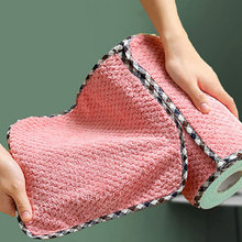 Nonstick Oil Wiping Rags Kitchen Efficient Super Absorbent Microfiber Cleaning Cloth Home Washing Dish Kitchen Cleaning Towel