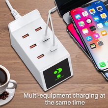 Factory Direct Sale Multi port Smart USB Charger for iphone X 7 Xiaomi Samsung s10 Huawei Universal for Mobile Phone ipad Tablet цена