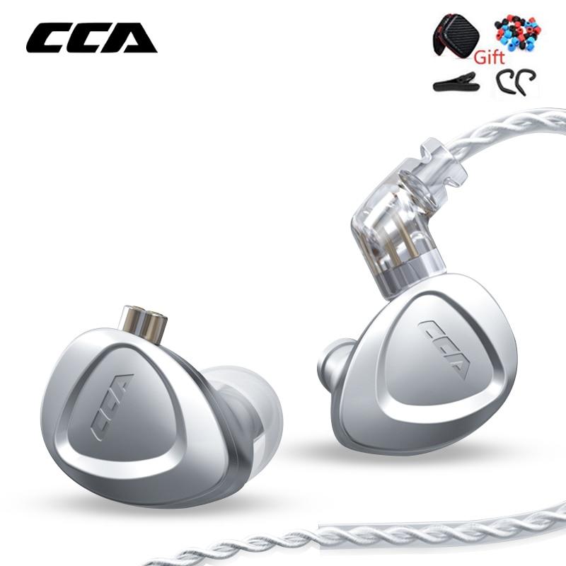 Наушники-вкладыши CCA CKX 1DD + 6BA, гибридные Hi-Fi наушники-вкладыши из чистого металла с шумоподавлением, гарнитура с монитором и басами для EDX ZSX DQ6