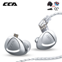 CCA – écouteurs intra-auriculaires CKX 1DD + 6BA à pilote hybride, en métal pur, casque d'écoute HIFI, moniteur de basses, suppression du bruit, pour EDX ZSX DQ6